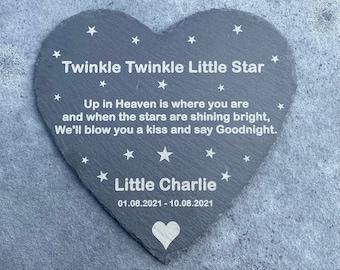 Baby Memorial Slate, Baby Memorial Plaque. Baby Graveside Ornament, Angel Baby Memorial, Baby Loss Gift, Infant Loss Gift, Babyloss gift