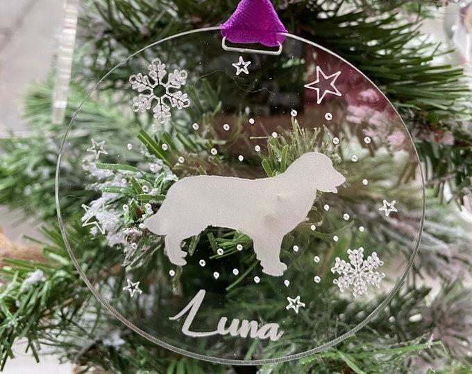Featured listing image: Personalised Pet Christmas Decoration, Pet Christmas Bauble, Dog Xmas Tree Decoration, Cat Christmas Bauble, Custom Pet Gift, Horse Bauble