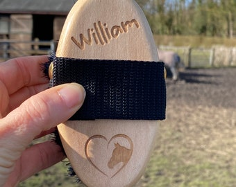 Personalised Horse & Pony Grooming Small Body Brush - Perfect for small hands