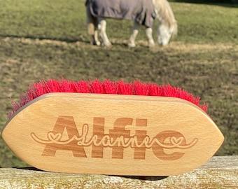 Personalised Horse & Pony Grooming Dandy Brush