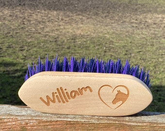 Personalised Horse & Pony Grooming Small Dandy Brush - Perfect for small hands