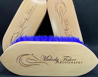 Logo Horse Brush, Custom Dandy Brush, Bespoke Company Gift, Custom Grooming Kit, Horse Gift, Custom Horse Brush, Equestrian Gift, Pony Gift