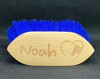 Personalised Small Horse & Pony Grooming Dusting Brush - Childrens Grooming Kit, Pony Club, Horse Brushes, Equestrian Gift, Horse Tack