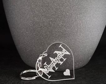 Nan, I Love You Heart Keyring - The Perfect Gift