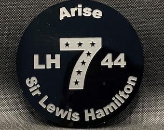 Arise Sir Lewis Hamilton Celebration Drinks Coaster, 7 time Formula 1 World Champion