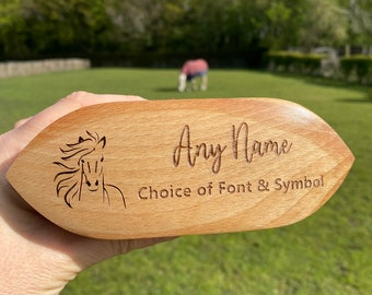Personalised Grooming Brush, Small Horse Dandy Brush, Childrens Grooming Kit, Horse & Pony Brush, Custom Brush, Equestrian Gift, Horse Tack