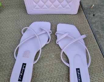 Lavender purse & sandal set