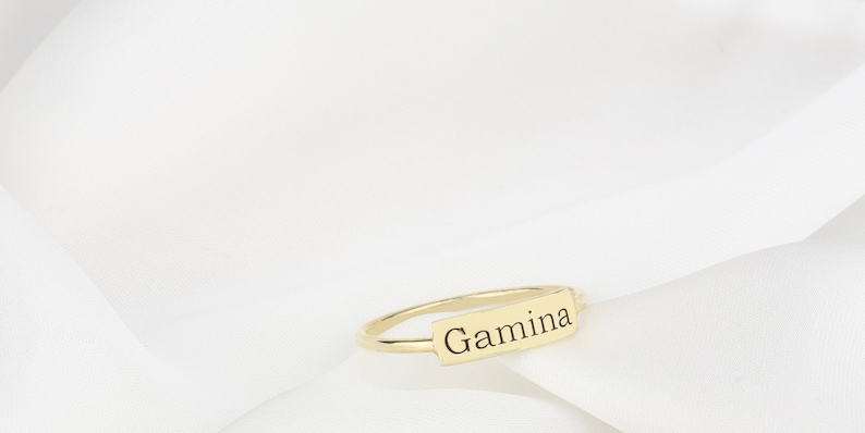 Personalized Handwriting Personalized Stacking Ring Name Ring Personalized Name Rings Custom Engraved Name Rings Stackable Silver Rings