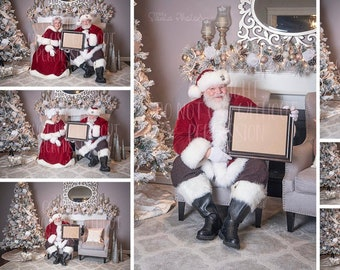 Completed Santa photo with frame