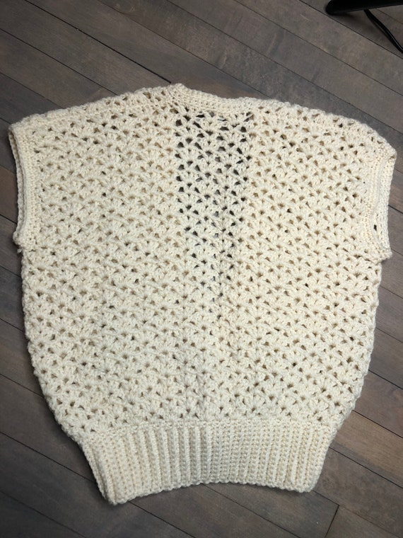 Hand crochet wool sweater vest by Sheleen of Dubl… - image 5