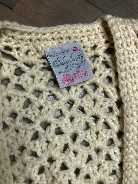 Hand crochet wool sweater vest by Sheleen of Dubl… - image 2