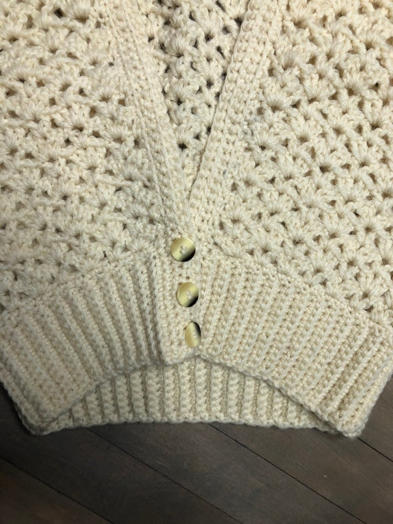 Hand crochet wool sweater vest by Sheleen of Dubl… - image 4