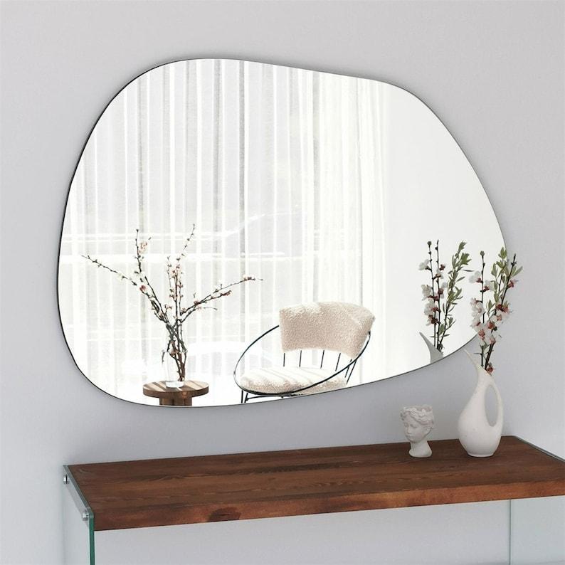 Niagara'' Large Wavy Mirror Irregular Mirror image 0