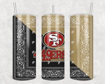 20 oz Skinny Tumbler Sublimation Design San Francisco 49ERS • Sublimation Designs • Digital Download •  PNG file • Instant Download
