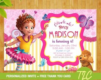 Fancy Nancy Invite, Fancy Nancy Birthday, Fancy Nancy Party, Fancy Nancy invitation, Fancy Nancy