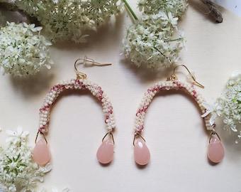 Angelica Beaded Arch Earrings