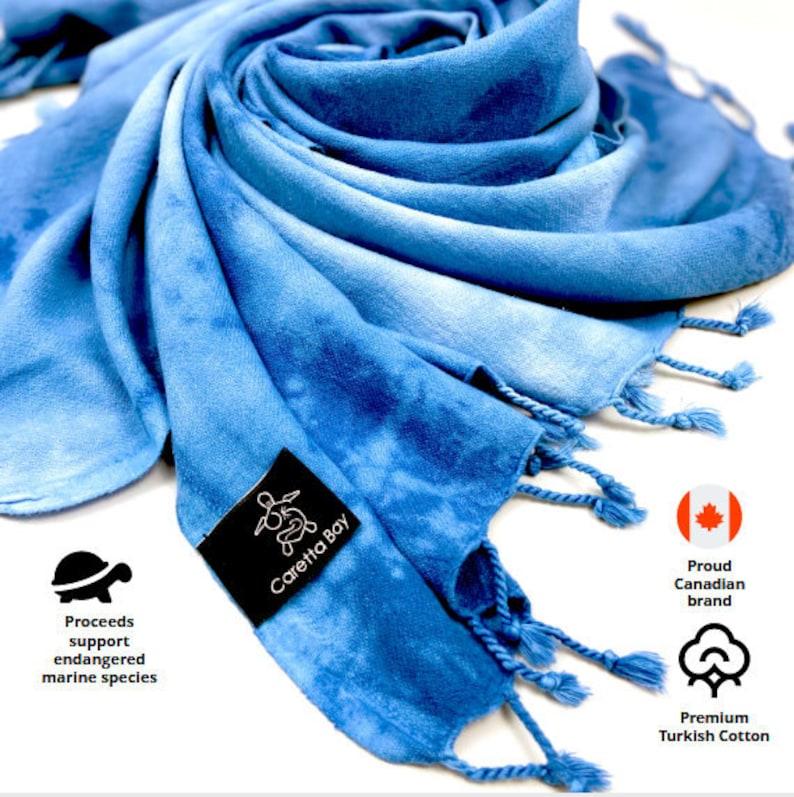 sarong tapestry throw Blue Tie Dye Beach Towel Made of Premium Turkish Cotton and Ultra Light-weight beach 90x170 cm Versatile: bath