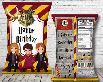 Harry Potter Chip Bag Party Favor PDF Printable