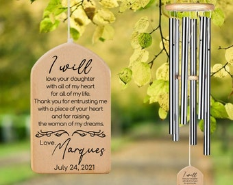 BUY 1 GET 1 FREE, Mother-in-law Wind Chime, Gift For Mother-in-law, Thank you Gift from Bride & Groom, Mother of Bride, Wedding Keepsake