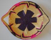Bolga Wall Basket 41cm Large Fruit Bowl Handwoven Storage Basket Handmade Home Decor African Crafts Wilderlust