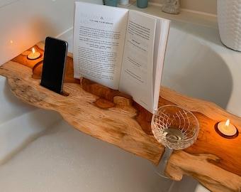 Live edge bathtub tray | Bath caddy | Bathroom shelve | Bath board Large | Handmade