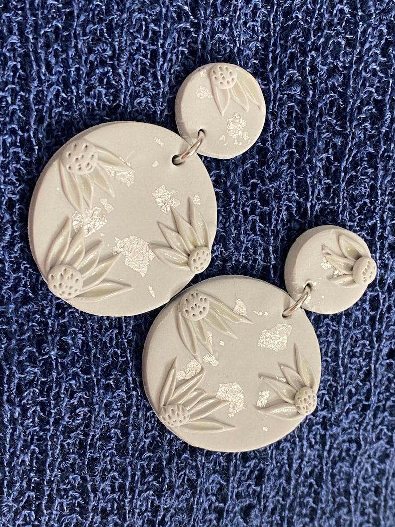 Latest polymer Clay earring Minimalist trendy Clay earring Handcrafted Clay earring.