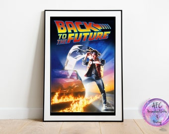 Back To The Future Original Movie Poster Design, Wall Art Print A4, A3, Framed Print / Picture,