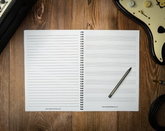 Music Composition Notebook with Manuscript Paper and Lined Paper - 8 Staves of Staff Paper A4 (8.3 x 11.7 inches)