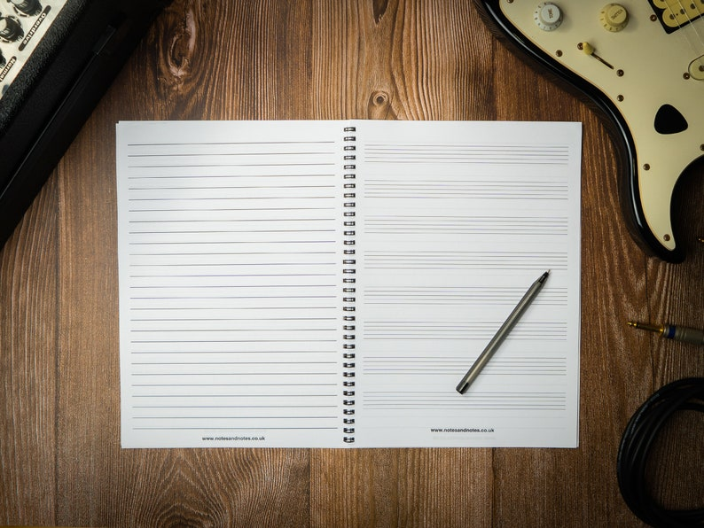 Music Composition Notebook with Manuscript Paper and Lined image 1