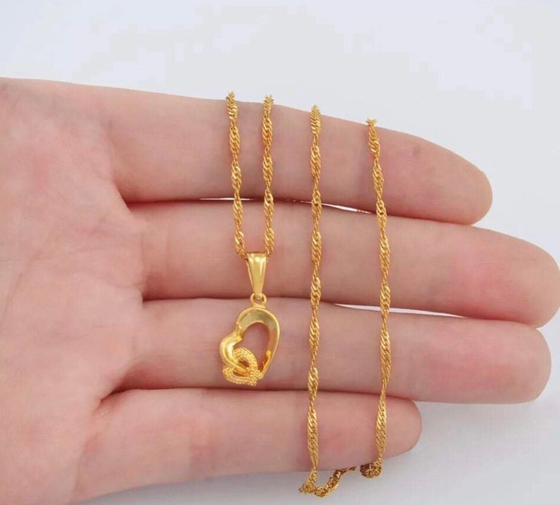 Cute Heart Necklace Dainty Heart Necklace Minimalist Heart Necklace Love Gift Gold Heart Necklace Heart Necklace Love Necklace