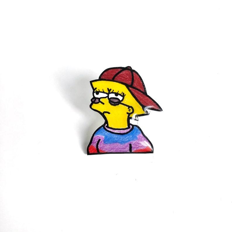 Lisa Simpson Hippie Pin
