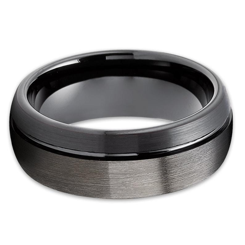 Black Tungsten Wedding Ring|Unique Black Tungsten Ring|Gunmetal Tungsten Ring|Anniversary Ring|Engagement Ring|Men /& Women|Tungsten Carbide
