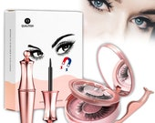 2 Pair Easy Magnetic Eyelashes Valentine Gift for Her, Reusable Easy to Apply Lashes,Natural Look Liquid Eyeliner False Eyelashes applicator
