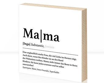 Definition Mama Wooden Sign | Mother's Day Gift Customizable | Personalized | Gift idea for Mother's Day