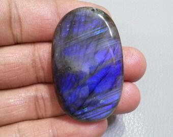 Natural Labradorite Cabochon Gemstone 23x14x5 mm Rainbow Flashy Purple Labradorite Fancy Shape Gemstones
