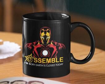 Iron Man Tony Stark Industries Logo Super Héros des Avengers Cadeau D/'anniversaire Tasse