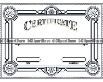 Single Line Font Certificate of Graduation Merit Completion Advancement Recognition SVG and DXF- Foil Quill Certificate SVG Draw Line