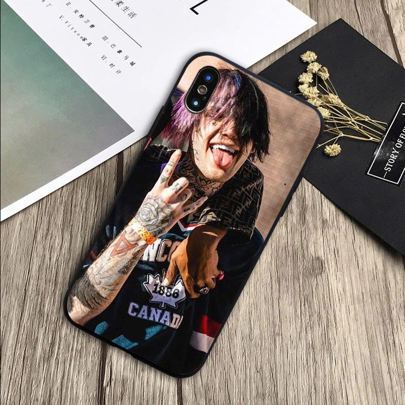 Peep Tattoo Collage iPhone Case Lil Peep Phone Case For iPhone 12 11 Pro Max Xs Xr X Max Se Rapper Phone Case Lil Peep Phone Case Cry Baby