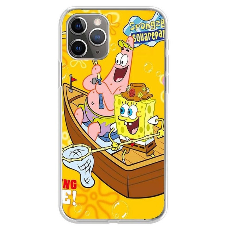 Cute Sponges Cartoon Bob Phone Case Cartoon Phone Case Spongebob Spongebob Phone Case For iPhone 12 11 Pro Max Xs Xr X Minni 8 7 Plus