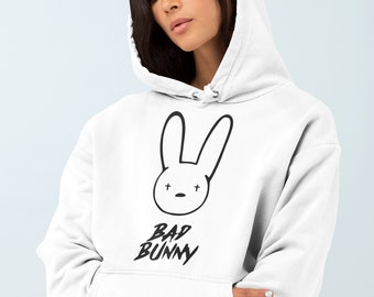Bad Bunny Hoodie | Etsy