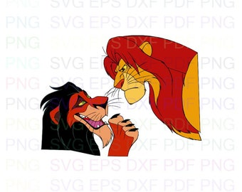 The Lion King Scar I Know I Swear A Lot PNG File Digital Download T Shirt