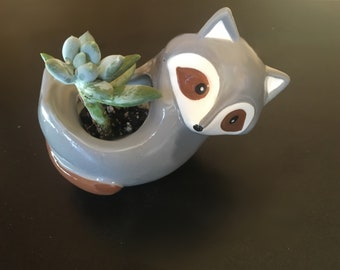 Ceramic Mini Planter For Succulent Bonsai Air Plant Animal Shape Home Garden Decor plant flower Pot container gardening Sloth Ra Narwhals