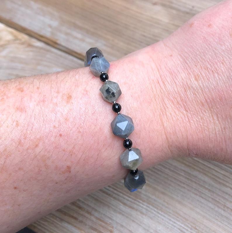 labradorite and onyx bracelet