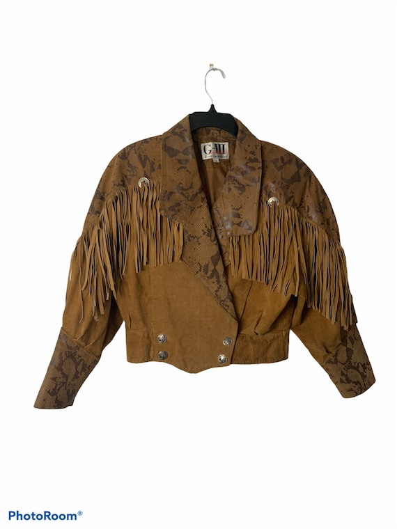 Vintage Fringed Western wear Leather Jacket