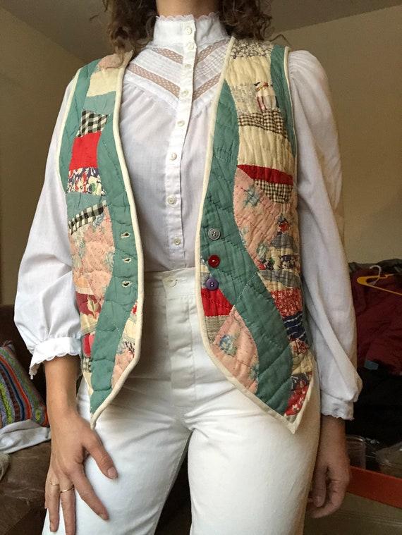 Handmade quilt vest.