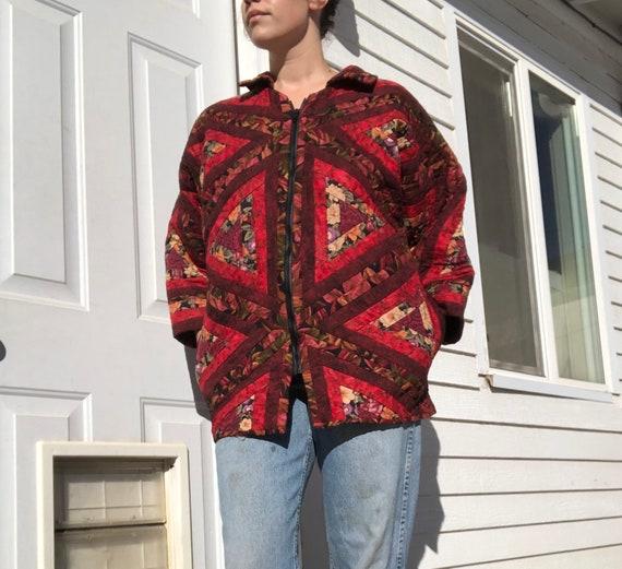 Handmade patchwork quilt coat/jacket.