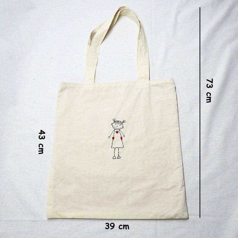 Child Patterned Boat Tote Market Bag Cloth Shoulder Bag Tote Bag With Pocket Knitting Bag Shoulder Bag Large Beach Bag