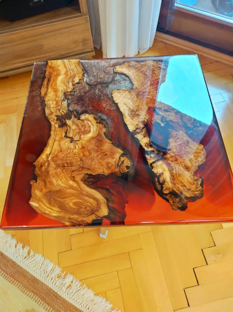 Resin wooden table top