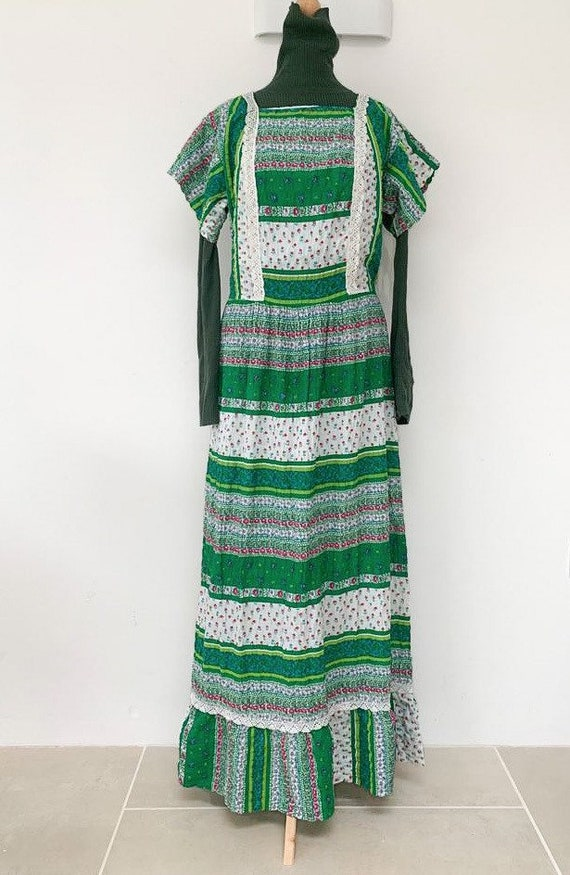 Vintage printed cotton 70's prairie dress