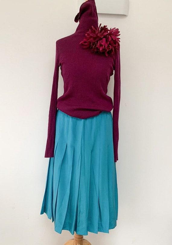 Vintage silk 70's Jean Patou skirt